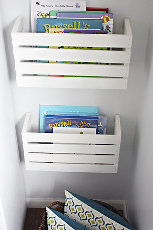 DIY Crate Book Holders