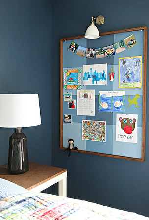 DIY Buffalo Check Bulletin Board