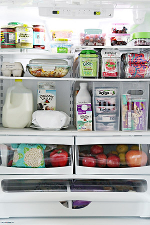 Organized Counter Depth Fridge & Freezer