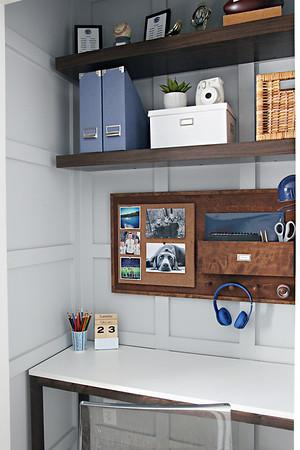 DIY Wall Study Organizer