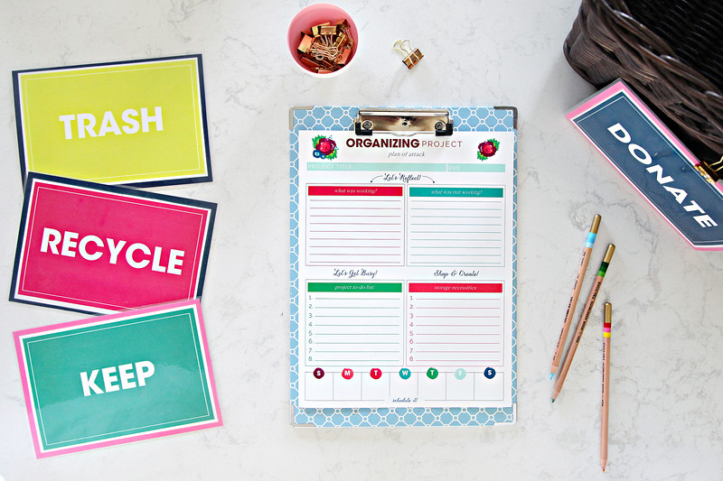 Organizing Project Printables