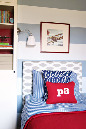 Boys DIY Upholstered Headboards