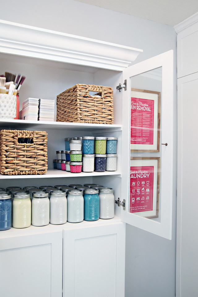 Organized Paint Cabinet
