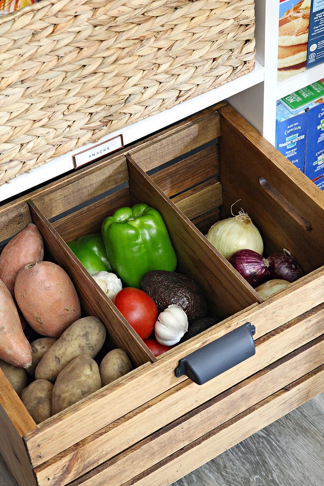 DIY Divided Produce Crate