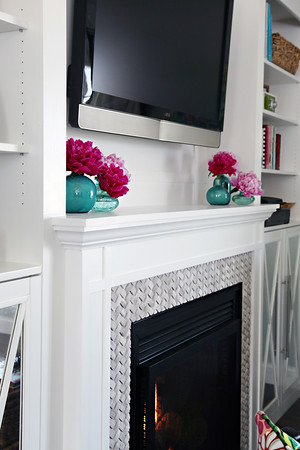 DIY Built-In Fireplace