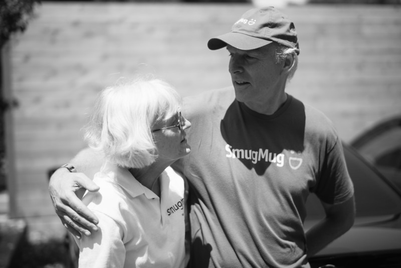 It feels like almost no time has passed since Don MacAskill started SmugMug in a spare room in his parents' house. Toni and Chris MacAskill believed in the company from day 1 and now hug to celebrate how far Smuggy has come.