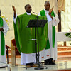 Members of the French-speaking African provinces concelebrated Thursday's Mass