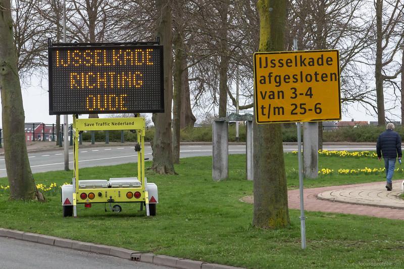 IJsselkade afgesloten vanaf 3 april 2017