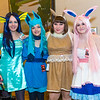 Vaporeon, Glaceon, Eevee, and Sylveon