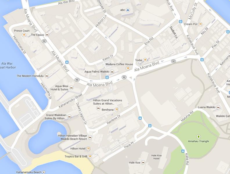 ilikai Hotel Google Map