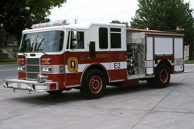 QUINCY ENGINE 2  1995 PIERCE DASH  1250-500   RON HEAL PHOTO