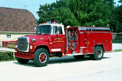 GREENVILLE  TANKER 207   1985 FORD L800 - FMC  1000-1500