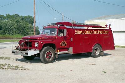 SHOAL CREEK  TANKER 248  1969 FORD F SUPER DUTY - MELRAY  750-100   SORENTO STATION   #1017   X-WALES FD,WI