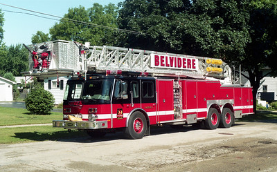 BELVIDERE  LADDER 1  1996 E-ONE  HURRICANE  1500-200-95' TL  #16285