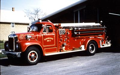 BELVIDERE  ENGINE 1  1956 MACK B95  1000-400  B95F-1061  JDS PHOTO