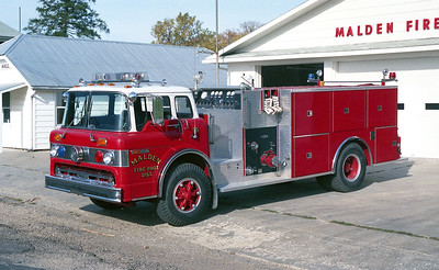 MALDEN  ENGINE 55  1983 FORD C-8000 - PIERCE  1000-1000   E-2101