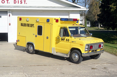 MALDEN  RESCUE 53   1982 FORD E -  EXCELLANCE