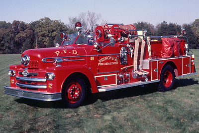 PRINCETON ENGINE 4   1958 SEAGRAVE 530AB 750-500     RON HEAL PHOTO
