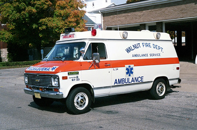 WALNUT  AMBULANCE 99  1976 CHEVY C30 - SHELLER GLOBE