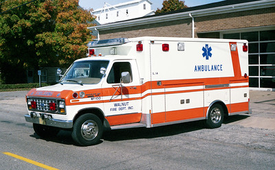 WALNUT  AMBULANCE 100   1984 FORD E-300 - WHEELED COACH