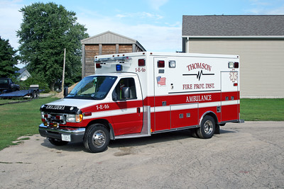 THOMSON AMBULANCE 1-E-16  2003 FORD E450 - MEDTEC  #5282