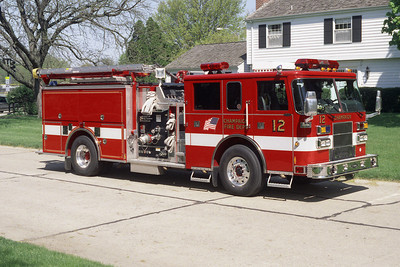 CHAMPAIGN FD  ENGINE 12  PIERCE