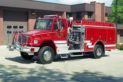 CORNBELT FPD  ENGINE 53  1995 FREIGHTLINER FL-80  4X4 - PIERCE  750-1000