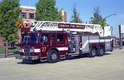 URBANA  TRUCK 27  1999 PIERCE DASH   1250-300-105'   EC-239