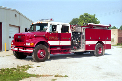 MIDLAND  PUMPER 1  IHC 4900 - PIERCE