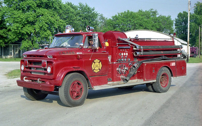 MORRISONVILLE PALMER FPD  ENGINE 3  1965 CHEVY-BEAN  750-750