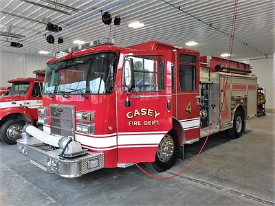 CASEY FD  ENGINE 4  PIERCE SABER   JIM HUDDELSON PHOTO