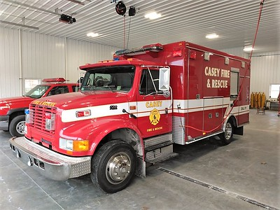 CASEY FD RESCUE 6  IHC 4700 - ROAD RESCUE   JIM HUDDELSON PHOTO