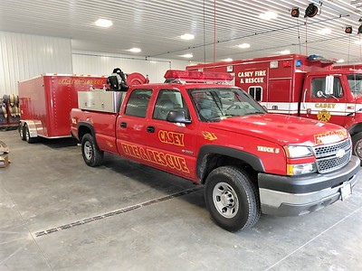 CASEY FD BRUSH 6  CHEVY 3500 4X4 - FD BUILT   PASSENGER SIDE   JIM HUDDELSON PHOTO