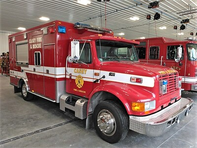 CASEY FD RESCUE 6  IHC 4700 - ROAD RESCUE  PASSENGER SIDE   JIM HUDDELSON PHOTO