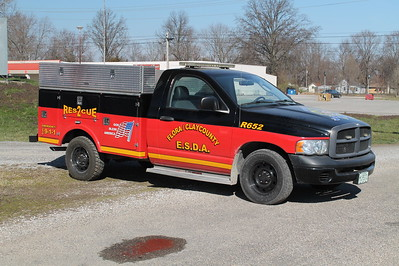 FLORA - CLAY COUNTY ESDA   RESCUE 652  2003 DODGE RAM 2500    FRANK WEGLOSKI PHOTO