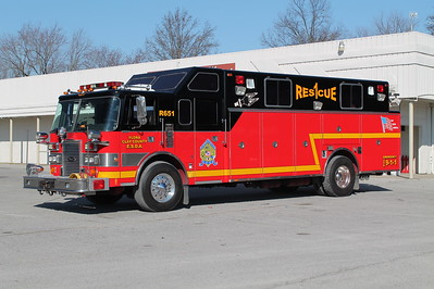 FLORA - CLAY COUNTY ESDA  RESCUE 651  1991 PIERCE LANCE  300-200  X- BEL ALTON FD, MD   E-5986     FRANK WEGLOSKI PHOTO