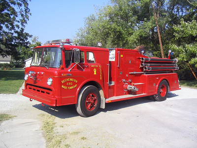 BECKMEYER WADE FPD  ENGINE 7768  1968  FORD C-900 - TOWERS   750-750   #1356  1st TOP MOUNT TOWERS BUILT