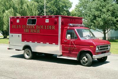 HUEY - FERRIN - BOULDER FPD  RESCUE  7219   1977  FORD E350 - 1993  FD BUILT