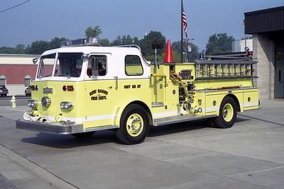 NEW BADEN FPD  ENGINE 87  1967  PIRSCH   1250-500   #2823  X- VILLA HILLS FD