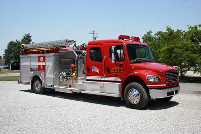 SANTA FE FPD  ENGINE 7611  2007  FREIGHTLINER FL-80 - CRIMSON   1250-1000   #06003-001