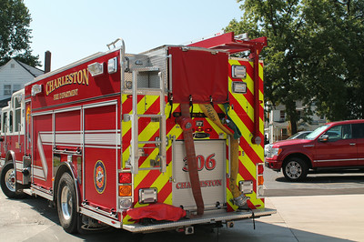 CHARLESTON ENGINE 306  REAR VIEW  FRANK WEGLOSKI PHOTO