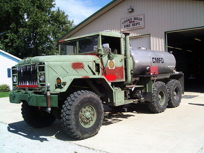 COOKS MILLS FPD  TNK 444  AMC GENERAL - FD 0-1450  TANDEM AXLE   J SUDKAMP PHOTO