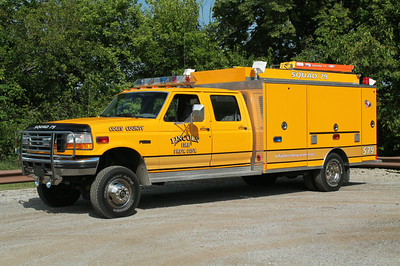 LINCOLN SQUAD 79  1997 FORD F450 - US TANKER  X-VERNON - BIG BEND FD WI