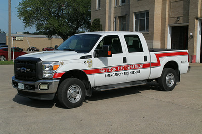 MATTOON CAR 20  2011 FORD F250  ASSISTANT CHIEF  FRANK WEGLOSKI PHOTO