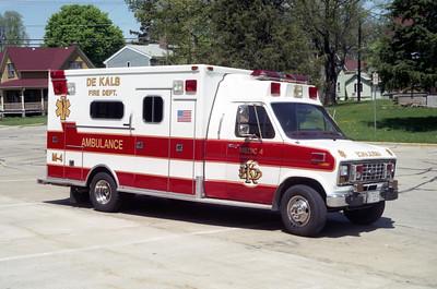 DEKALB  MEDIC 4  1991 FORD E350 - MEDTEC  #91450