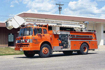 GENOA-KINGSTON FPD  ENGINE 78  1978 FORD C-8000 - PIERCE  750-750-45' AERIALETTE  BF