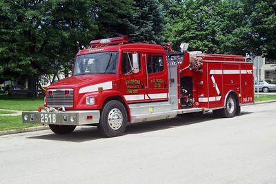 SHABBONA  ENGINE 2518  1999 FREIGHTLINER FL-80 - ALEXIS  1500-1000   #1676