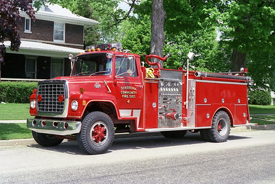 SHABBONA COMMUNITY FPD  ENGINE 4  FORD L