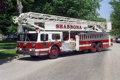 SHABBONA  TRUCK 2589    1976 WLF - HI RANGER   85'   x- DEKALB FD TRUCK 1