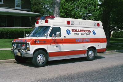SHABBONA   AMBILANCE 1-I-39  1989 FORD E-350 - McCOY MILLER